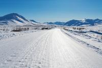 カナダ 凍りついたデンプスターハイウェイ
