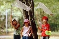 虫捕りの日本人の子供達
