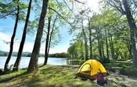 新緑の初夏 湖畔のキャンプ