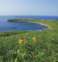 北海道 ゴロタ岬から望むスコトン岬