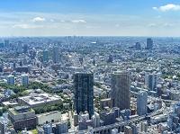 東京都 東京の街 東京タワーより恵比寿方面