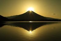 静岡県 田貫湖 ダブルダイアモンド富士