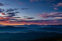 大黒岳から見る御来光 南アルプス