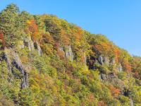 青森県 屏風岩 紅葉