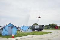防災訓練 ‐ 倒壊建物等からの救出救助訓練 一斉放水