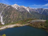 長野県 八方池より白馬三山 鑓ヶ岳と杓子岳と白馬岳 八方尾根