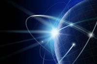 球体と光のネットワーク CG