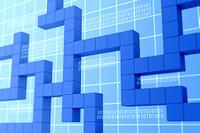 並ぶ立方体と二進法 CG
