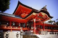 京都府 石清水八幡宮楼門と本殿