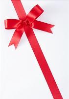 包装用の赤いリボン