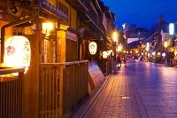 京都府 夏の祇園の夕景