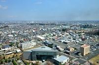 茨城県庁より北東方向を見る