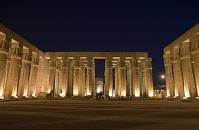 エジプト ルクソール神殿 ライトアップ