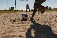 アフリカのサッカー少年