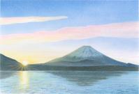 精進湖から見る富士