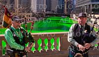 シカゴ川を緑色にする伝統行事 市民に知らせず敢行
