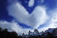 アルゼンチン フィッツロイ ハート雲