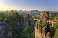 ドイツ ドレスデン ザクセン・スイス国立公園 バスタイ橋