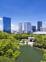 大阪城公園よりビジネスパーク
