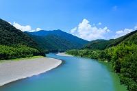 高知県 四万十川の蛇行