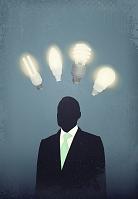 ビジネスマンと電球