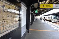 大阪府 大阪環状線 寺田町駅旧駅名標と221系大和路快速電車