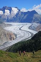 スイス アルプス アレッチュ氷河