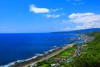 高知県 室戸岬から海岸と土佐湾