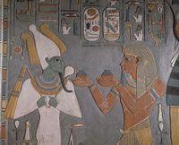 エジプト ホレムヘブ王の墓 壁画