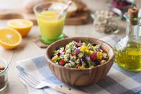 夏野菜のチョップドラダ