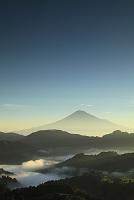 静岡県 静岡市 清水吉原 富士山と雲海