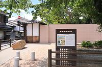 京都府 応仁の乱の東西境界地(小川跡)と百々橋の礎石