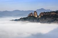中国 武夷山 雲海に包まれる武夷山/天遊峰からの眺望
