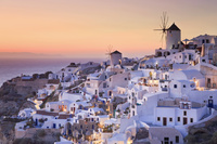 ギリシャ サントリーニ島 イアの街並み