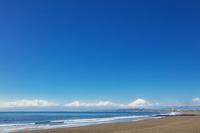 神奈川県 湘南海岸と富士山