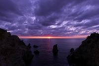 静岡県 黄金崎の夕景