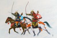 武者二騎(鎌倉時代)