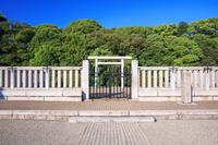 大阪府 新緑の清寧天皇陵古墳
