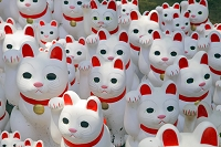 日本 東京都 豪徳寺 招き猫
