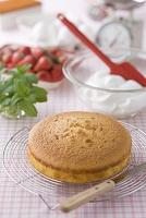 ケーキ作りの材料 スポンジケーキ