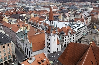 ドイツ ミュンヘン 聖ペーター教会の塔より