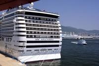 神戸港、MSC スプレンディダが停泊
