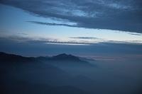 長野県 餓鬼岳より鹿島槍ヶ岳、爺ヶ岳