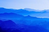 宮崎県 高千穂町 国見ヶ丘より高千穂盆地の夜明け