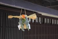 京都府 西陣 玄関の正月飾り