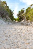 砂山ビーチ 砂の坂道