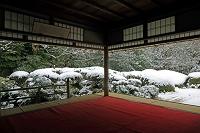 京都府 詩仙堂 庭園雪