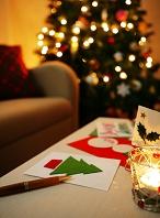 クリスマス ツリーとカード