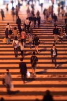 大阪府 横断歩道の群衆 ジオラマ
