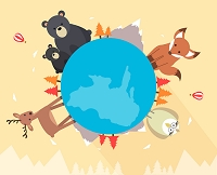 地球と動物